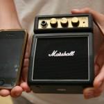 מגבר לגיטרה בגודל של אייפון - מיני מרשל